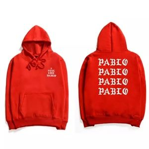 """Other - Kanye West """"I Fell Like Pablo"""" Red Hoodie - New"""